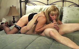 Mature Petite Blonde Sucks and Fucks Her Young BoyToy