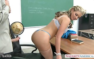 Busty babe Phoenix Marie gets ass fucked in lecture-room