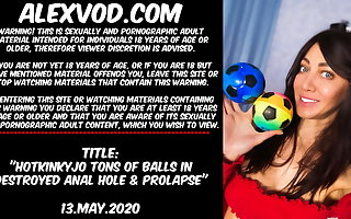 Hotkinkyjo tons be advantageous to balls in destroyed anal hole & prolapse