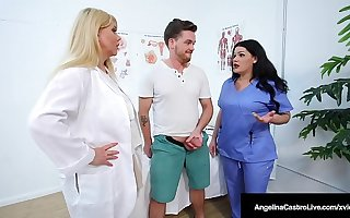 Chubby Dr Dick Suckers Angelina Castro & Karen Fisher Specific Cock