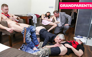 GrandParents Showing Everywhere handy be passed on After Party