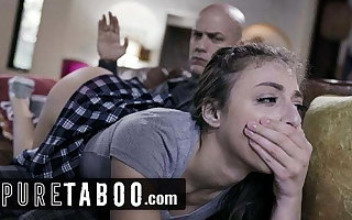 PURE TABOO Step-Daughter Spanked and Ass-Fucked away from Step-Dad