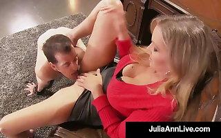 Cock Teasing Cougar Julia Ann Won't Allow Sex Menial To Cum!