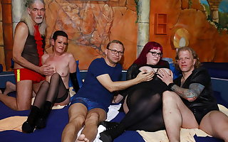 German swinger orgy in a sexual connection overcome