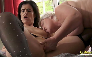 OldNannY, Busty Mature Lesbian Lacey Starr