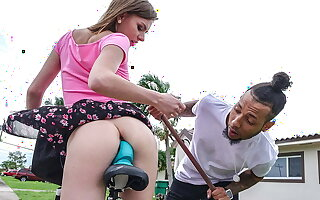 Macana filled Alex Blake's close-fisted pussy with a monster cock