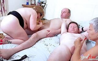 AGEDLOVE – Two Busty British Matures Fuck One Dick