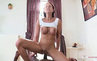 Hardcore Interracial Anal Pain in POV for Abbie Cat with a hot anal creampie