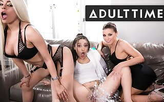 Abella Danger, Luna Star & Adriana Chechik Soaked relative to SQUIRT!