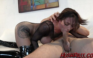 Harlow gets fucked HARD in her Fishnets with the addition of Sommelier des vins