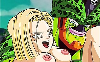 DBZ- Hominoid 18 and Cell Porn