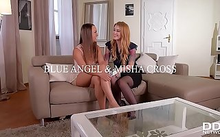 Teen Misha Spoiled Fucked in the Ass While Licking Blue Angel's Juicy Twat