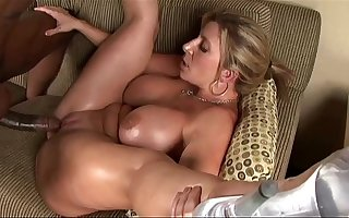 Big Massive Tits Hot MILF rides Big Baleful Guy´s really big hard oily dick