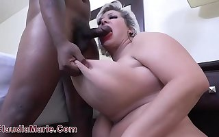 18 Year OId Black House-servant Rampages On Saggy Fake Tit Cow Claudia Marie