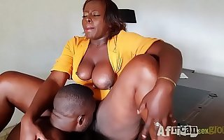 bbw secretary get fucked at the end of one's tether will not hear of boss