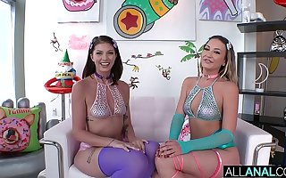 ALL ANAL Adira Appeal and Leah Winters share a obese dick