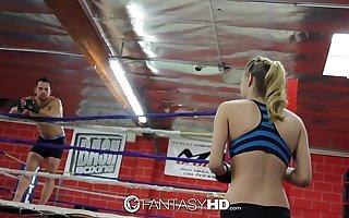 HD FantasyHD - Natalia Starr wrestles will not hear of way into fuck session