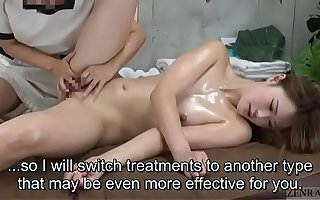 Subtitled ENF CFNF Japanese lesbian clitoris massage clinic