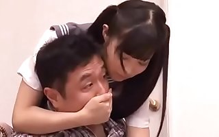 japanese lady loves her dad