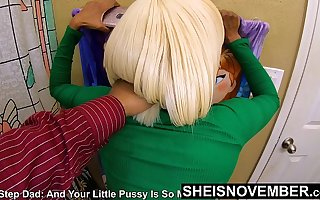 Daughter Pulled Off The Powder-room !!! And Sharp Fucked By Step Daddy Of Theft His Money, Cute Black Msnovember Perverted Fauxcest Punishment , Peninsula Grabbed Standing Rough Doggystyle , Tiny Pussy Pounded , Chubby Saggy Boobs Ripped Out 4k By Sheisnovember