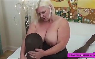 busty grandma loves interracial sexual intercourse