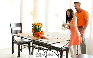 Passion-HD - Guy fucks his step daughter Carolina Confectionery on Thanksgiving