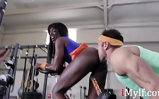 Ebony MILF's  Secret Workout Session...Ana Foxxx