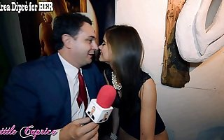 Little Caprice gives a blowjob naming for Andrea Diprè