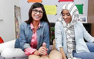 MIA KHALIFA - Mr Big Arab Pornstar Trains Say no to Muslim Team up How To Suck Flannel